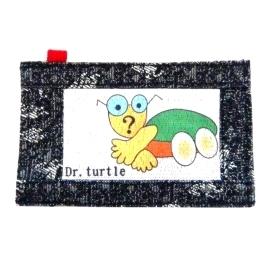 【CHINNEX】手工製作 ◎ 丹寧布刺繡手機吊袋 ◎ 可裝一般手機、眼鏡、各式卡片~~【可愛@烏龜博士】