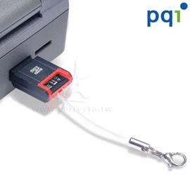 PQI M722超迷你二合一讀卡機,可當手機吊飾佩掛,支援MicroSD、MicroSDH