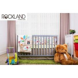 【Rockland】美式4合一嬰兒成長床-附贈床墊+床側護欄 (灰色預購11月中到貨)