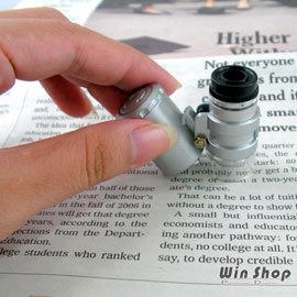 【winshop】超迷你60倍顯微鏡、驗鈔燈,NO.9882型號  附LED燈、可調焦距