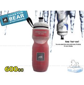 【美國製 北極熊】POLAR BOTTLE 寬口保冷.保冰水壺 600cc.(20 oz)/自行車.兒童書包可用(紅)