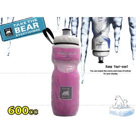 【美國製 北極熊】POLAR BOTTLE 寬口保冷.保冰水壺 600cc.(20 oz)/自行車.兒童書包可用(粉紅)