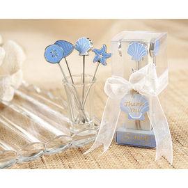 【花現幸福】☆藍多瑙海洋水果叉10組890元☆婚禮小物  送客禮  姐妹禮  餐具  刀叉
