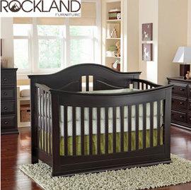 【Rockland】奧斯丁嬰兒床(2色)-附贈床墊+床側護欄 (2/28到貨)