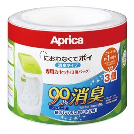 Aprica 專利除臭抗菌尿布處理器-專用替換用膠捲3入 (#09124)
