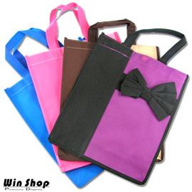 【winshop】日式蝴蝶結購物袋環保袋,不織布材質LOHAS樂活為地球盡一份心力