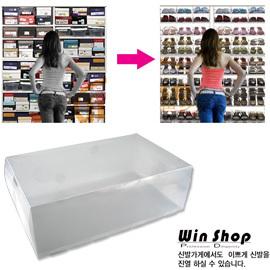 【winshop】水晶透明鞋盒/收納鞋盒/環保鞋盒(小)(1入),日本最新流行收納達人 !!