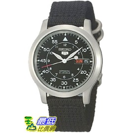 [美國直購 ShopUSA] Seiko 5 Mens SNK809 Automatic Black Strap Black Dial Watch $3030