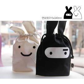 韓國 忍者兔便當袋/雜物收納袋◇/旅行收納袋/束口袋/韓國兔忍者抽繩束口袋