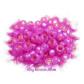 3mm日本珠-特殊蛋白色系中灌銀-#2107桃紅色(10g約400顆/份)