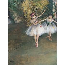 Edgar  DEGAS 竇加~ 舞台上的兩個舞者~複製畫加框69x51cm 油畫布 裝飾