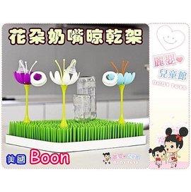 麗嬰兒童玩具館~美國boon設計師款Twig stem花朵奶嘴晾乾架-可搭配草皮晾乾架使用