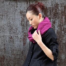 性感美梅╭~INMAN茵曼 女裝  圍脖百搭拼色雙層圍巾SC002