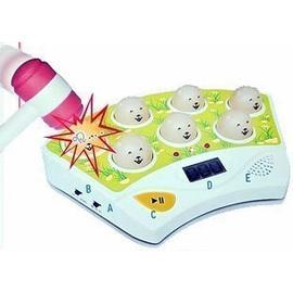 新款 大台打地鼠遊戲機台~訓練手眼協調,音樂/燈光/計分/可調靜音!◇/電動打地鼠機