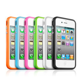 Apple iPhone 4/4S Bumpers 雙色邊框保護套/環狀矽膠保護套/原廠規格內建音量鍵、開關鍵