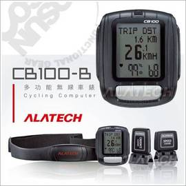 【ALATECH】多功能無線車錶.LED.自行車碼表.(送軟式手錶收納袋.日本製電池x1 非Garmin NIKE)/黑 CB100-B
