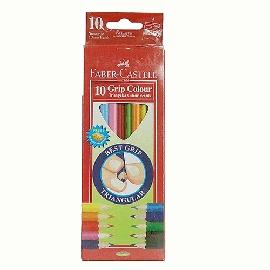 Faber~Castell輝柏 學齡兒童用大三角彩色鉛筆3.3mm 10色 盒^(1165