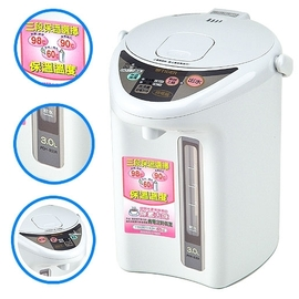 【虎牌 TIGER】3.0公升◆電動給水熱水瓶《PDH-B30R》