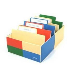 韓國畸良正品 自製桌上名片收納盒/卡片盒◇/名片盒