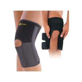 【瑞典 SPECIAL】美國專利透氣加強型前下開放式可調式彈性膝關節護套-單支販售.運動款膝蓋護套(兩側附彈簧條)(非LP護具) # SP-527