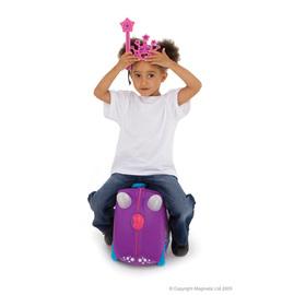 英國Trunki,世界首創超可愛多用途可乘坐趣緻兒童行李箱登機箱豪華版---新款超可愛 公主包廂現貨到,限量再送【美國ALEX】蠟筆旅行塗鴉本
