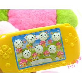 超夯新款 迷你打地鼠隨身小遊戲機~84關魔幻彩燈版,電玩PSP造型!有手拿吊繩! ◇/迷你打地鼠鑰匙圈/迷你打地鼠鎖圈