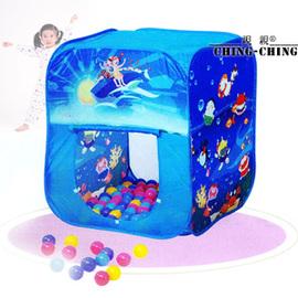 方形折疊帳篷+100球(台灣製造)P072-CBH-02(兒童遊戲帳棚.折疊遊戲球屋.彩球池.遊戲池.彩色塑膠軟球.ST安全玩具.兒童玩具)