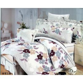 YvH PB 皮爾帕門 香草之戀 雙人七件式鋪棉床罩組 雙面印花帝王摺 100^%純棉