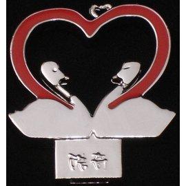 酷奇 鑰匙~紅色對對天鵝 (H027),新世代 ,機車族最炫的飾物,愛炫耀 鑰匙