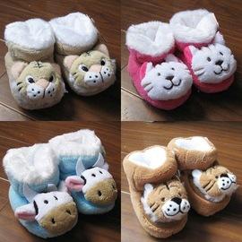 #9829 日單 #9829 可愛 保暖內厚絨毛鞋襪 粉 藍 咖啡色  適腳長11~12c