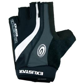 EXUSTAR~自行車專用黏扣半指手套(E-CG950)(黑/灰/白)