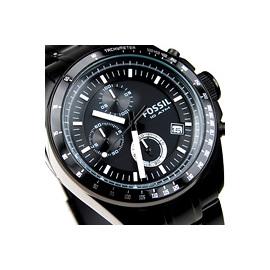 貨^~FOSSIL 風格 三眼計時碼錶賽車錶,展現自我 魅力 黑色 男錶 CH2601