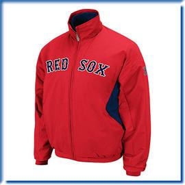 【ANGEL NEW ERA】2011 MLB Majestic Authentic Triple Peak Premier Jacket 波士頓紅襪(主場) 球員版 外套