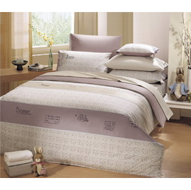 彼得兔~丘頂之歌 PR252~兩用厚被 雙人床組 5x6.2