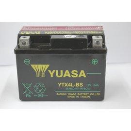 免 ~電池天地~YUASA 湯淺 YTX4L~BS 4號電池 電瓶 機車電瓶 正廠零件