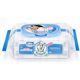 【箱購最優惠】貝恩 Baan EDI無香料超純水嬰兒保養柔濕巾(臉口鼻適用)80抽*24包/箱購--再贈:品牌清潔保養體驗包*3入 *最新包裝*