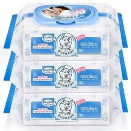 貝恩EDI無香料超純水嬰兒柔濕巾(臉口鼻適用) 80抽*3包 --全新包裝--