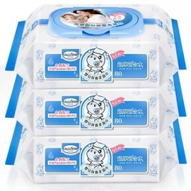 貝恩 Baan EDI 超純水嬰兒保養柔濕巾(臉口鼻適用) 80抽*3包 --全新包裝--