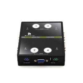 BENEVO 4埠迷你磁吸式PS 2切換器   BKVM14P  讓4台電腦共用