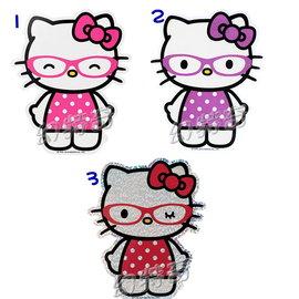 幻特奇~日本進口歐美限定kitty站立眼鏡造型大貼紙092711