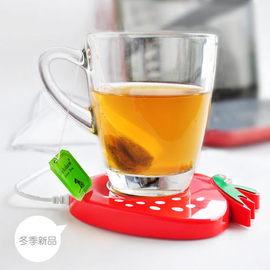 暖冬必備只愛熱飲 3C夯品 甜美草莓USB保溫碟/保溫杯墊