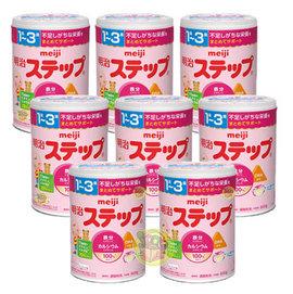 日本明治奶粉第二阶段1箱(日本境内贩售)(新包装820g)