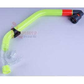 UL1102呼吸管(乾式-可排水)台灣製(黃色款)(另有售矽膠蛙鏡)