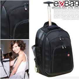 【eeBag】紳士三段式鋁合金電腦拉桿袋(可當旅行背包使用).背包.包包 P043-EB0997