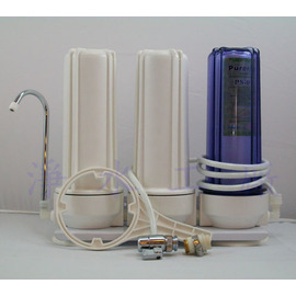 【淨水工廠】DIY簡易桌上型10吋三管過濾.一般三道過濾器.3道淨水器.濾水器(含全部配件及濾心)【免運費】