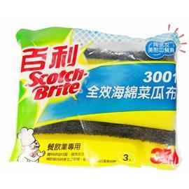 3M百利3001全效海綿菜瓜布 3片 包