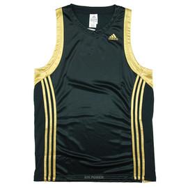 台灣製造!Adidas~吸濕排汗籃球背心(黑/金) (210319)