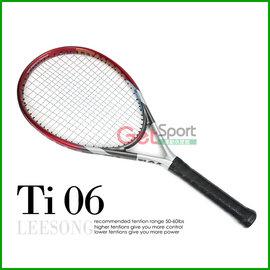 Leesong網球拍~ Ti.06 ^(休閒拍^)^(含空拍、網球袋、網球線、 穿線服務^