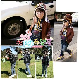 韓國飛行員帽/護耳帽/飛行帽/造型帽.保暖帥氣(咖啡色/黑色)【HH婦幼館】