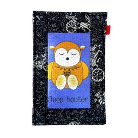 【CHINNEX】手工製作 ◎ 丹寧布刺繡手機吊袋 ◎ 可裝一般手機、眼鏡、各式卡片~~【SLEEP HOOTER】